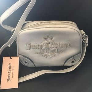 Juicy Couture Silver Crossbody Bag Crown Logo